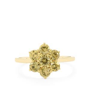 1.80ct Ceylon Zircon 9K Gold Ring