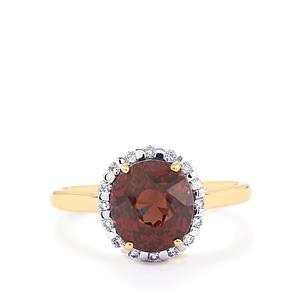 Colour Change Garnet & Diamond 18K Gold Lorique Ring MTGW 4.42cts