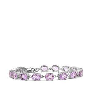 18ct Rose De France Amethyst Sterling Silver Bracelet