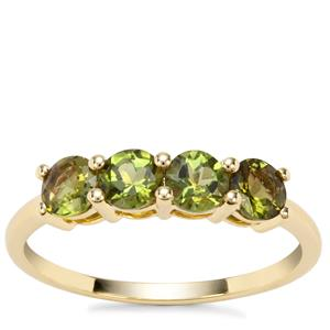 Chrome Tourmaline Ring in 9K Gold 0.96ct