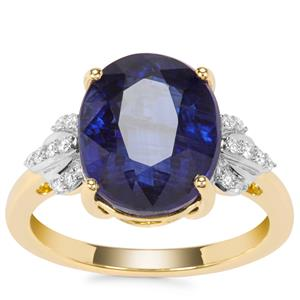 Nilamani Ring with Diamond in 18K Gold 6.17cts