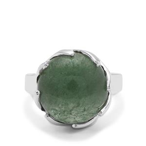 Kiwi Quartz Ring in Sterling Silver 11cts