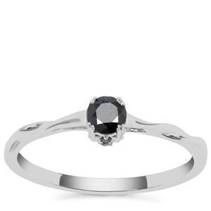Blue Diamond Ring in 9K White Gold 0.26ct