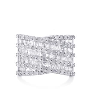2ct Diamond Sterling Silver Ring