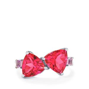 Mystic Pink Topaz & Rose De France Amethyst Sterling Silver Ring ATGW 5.95cts