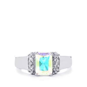2cts Mercury Mystic & White Topaz Sterling Silver Ring