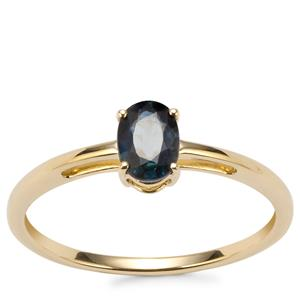 Natural Nigerian Sapphire Ring in 9K Gold 0.58ct