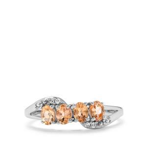 Ouro Preto Imperial Topaz & Diamond 9K White Gold Ring ATGW 0.70cts