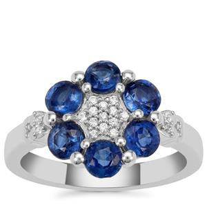 Nilamani Ring with White Zircon in Sterling Silver 2.30cts