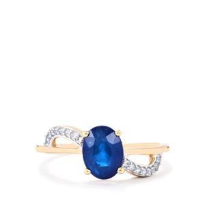 Santorinite™ Blue Spinel & White Zircon 9K Gold Ring ATGW 1.55cts