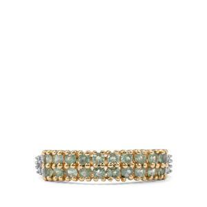 Alexandrite & Diamond 9K Gold Ring ATGW 0.58cts