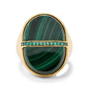 Malachite & Green Onyx Midas Ring ATGW 20.79cts