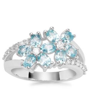 Ratanakiri Blue Zircon Ring with Zircon in Sterling Silver 2.64cts