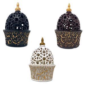 Gem Auras Ornate Moroccan Incense Burner in Black (01), Brown (02) or White (03)