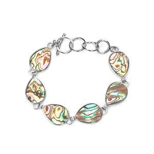 Paua Sterling Silver Bracelet (18x13mm)