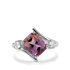 Anahi Ametrine Ring with White Topaz in Sterling Silver 3.13cts