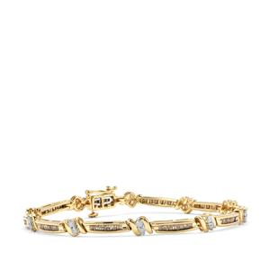 2ct Champagne & White Diamond 10K Gold Tomas Rae Bracelet