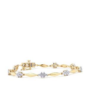 1.50ct Diamond 10K Gold Tomas Rae Bracelet