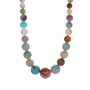 Multi-Colour Amazonite Necklace in Sterling Silver 280.20cts