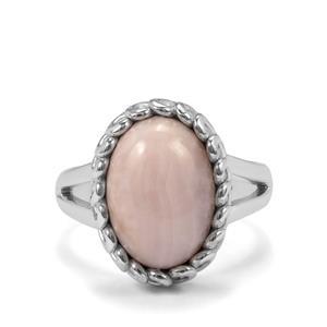6ct Pink Aragonite Sterling Silver Aryonna Ring