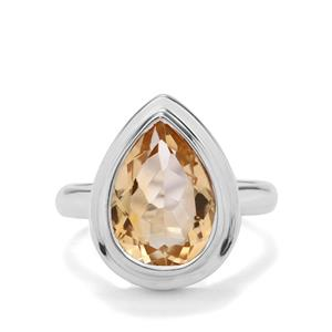 5ct Diamantina Citrine Sterling Silver Aryonna Ring