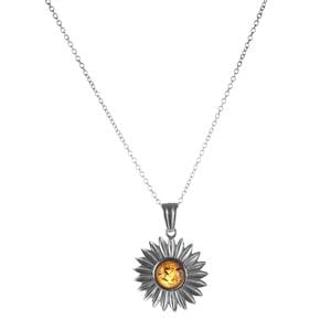 Baltic Cognac Amber Sterling Silver Necklace