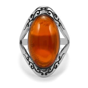 8.56ct American Fire Opal Sterling Silver Ring