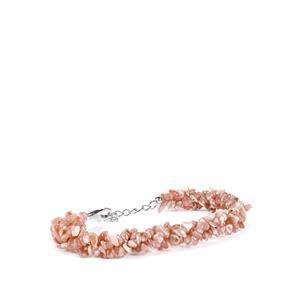 119ct Rhodochrosite Sterling Silver Bracelet