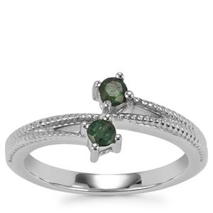 Luhlaza Emerald Ring in Sterling Silver 0.26ct