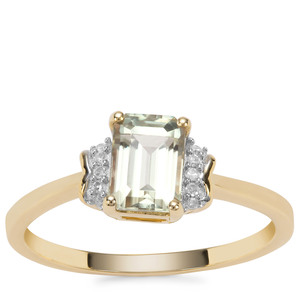Csarite® Ring with Diamond in 9K Gold 1.24cts