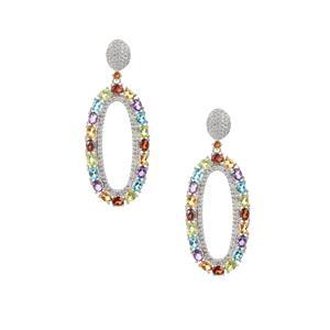 Kaleidoscope Gemstone Earrings in Sterling Silver 9.32cts