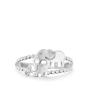 Elephant Ring in Sterling Silver 2.50g