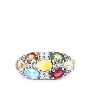 3.46ct Kaleidoscope Gemstones Sterling Silver Ring