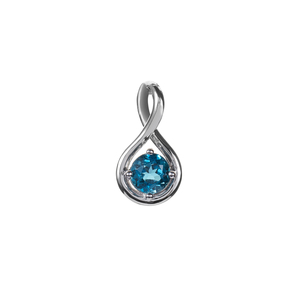 Ceylonese London Blue Topaz Pendant in Sterling Silver 1.02cts