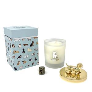 Gem Auras Dog Lovers Candle - Zesty Lime Fragrance - Dalmatian Jasper Gemstone ATGW 90cts