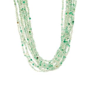 386.95ct Green Agate Sterling Silver Necklace