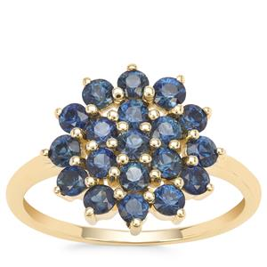 Australian Blue Sapphire Ring in 9K Gold 1.53cts