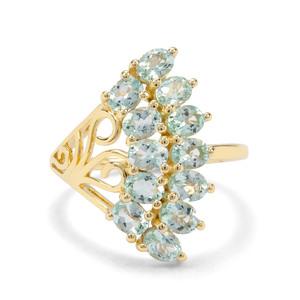 1.77ct Aquaiba™ Beryl 9K Gold Ring