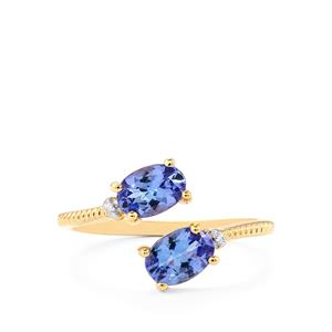 AA Tanzanite Ring in 10K Gold 1.15cts