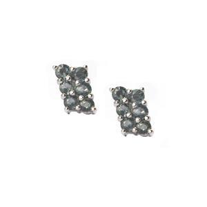 2.05ct Tunduru Color Change Sapphire Sterling Silver Earrings