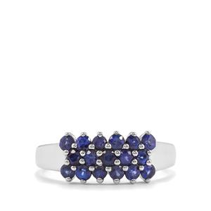 1.04ct Sri Lankan Sapphire 9K White Gold Ring