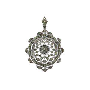 1ct Green Diamond Sterling Silver Pendant
