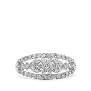 3/4ct Argyle Diamond 9K White Gold Ring