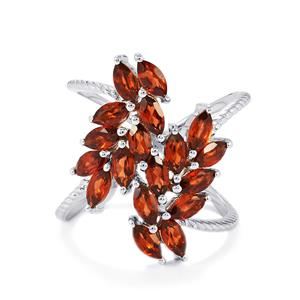 3.50ct Rajasthan Garnet Sterling Silver Ring