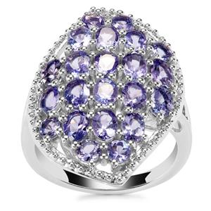 Tanzanite Ring in Sterling Silver 3.25cts