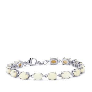 Coober Pedy Opal Bracelet in Sterling Silver 10.14cts