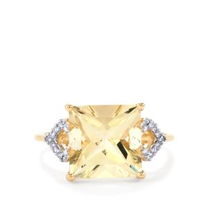 Serenite Ring with Diamond in 10k Gold 4.18cts