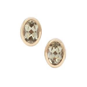 0.95ct Csarite® 9K Gold Earrings