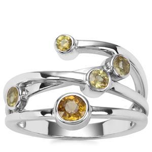 Ambilobe Sphene Ring with Morafeno Sphene in Sterling Silver 0.79cts