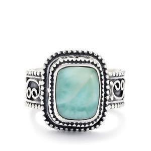 4.27ct Larimar Sterling Silver Ring